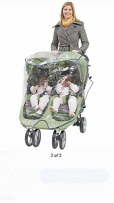 Double Jogger Rain Cover - Fits all standard duble jogging strollers.