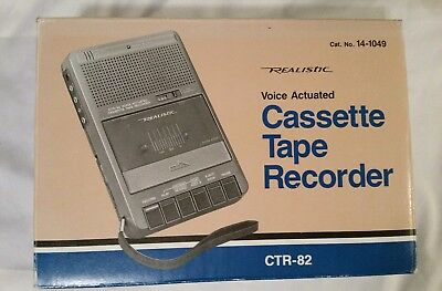 Vintage 80's Realistic CTR-82 14-1049  Cassette Tape Recorder Voice Actuated NIB