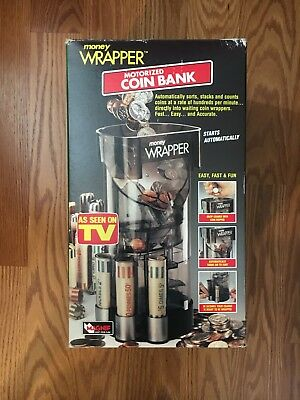 Magnif Money Wrapper Motorized Coin Bank, Counts, Stacks and Wraps