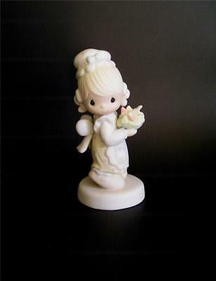 Precious Moments There is Joy in Serving Jesus Girl Serving Food Figurine Enesco