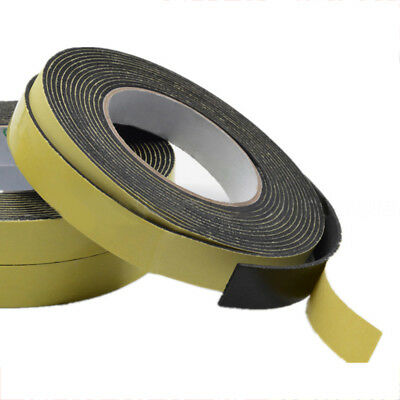 Brown Foam Draught Excluder Strip Window Seal Door Insulation Tape Portable HOT