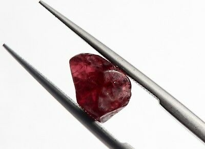 1.96 Ct Natural Rough Spinel Loose Translucent Old Mine Burma Gemstone
