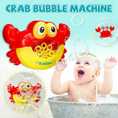 Crab Bubble Maker 12 Songs Machine Musical Bath Bubble Baby Children Shower Toy