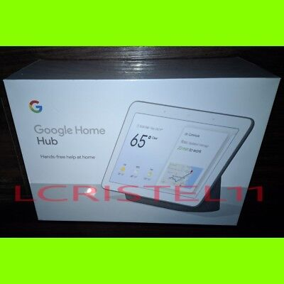 "NEW - Google Home Hub with Smart Google Assistant 7"" Screen - Charcoal"