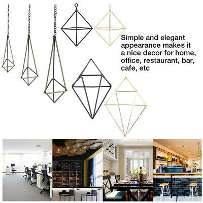 Geometric Hanging Air Plants Rack Holder Triangle Flower Container Home Decor