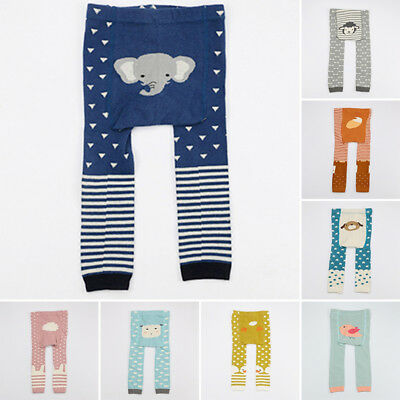 Cute Baby Toddler Boys Girls Unisex Leggings Tights Trousers Winter Warm 0-4year