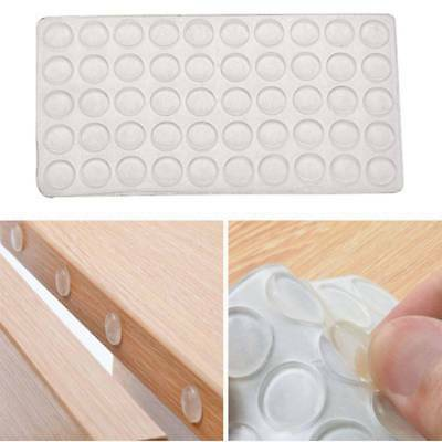 50pcs Door Stopper Silicon Rubber 2mm Cabinet Self Adhesive Furniture Hardware