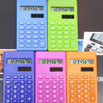 Solar Battery Calculator Counter Random Color Student Office Tools Wholesale