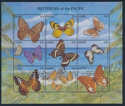 2002 Nauru Butterflies Of The Pacific Sheetlet Fine Mint Mnh