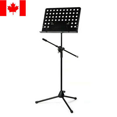 26-Inch To 56-Inch Adjsutable Heavy Duty Tripod Microphone and Music Note Stand