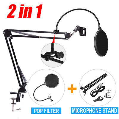 Mic Desktop Microphone Suspension Stand Studio Broadcast Boom Scissor Arm Holder