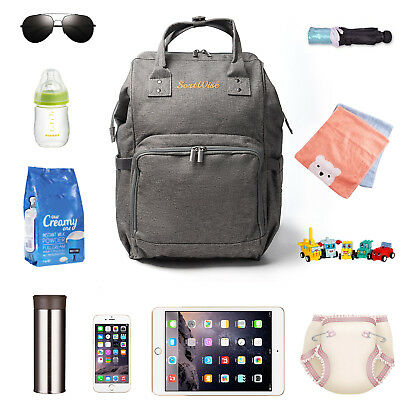 Large Capacity Travel Backpack Maternity Nappy Diaper Bags for Baby Care, Gifts
