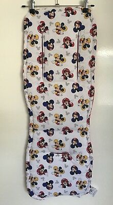 Mickey Mouse Universal Pram Liner & Strap Covers  Handmade NEW