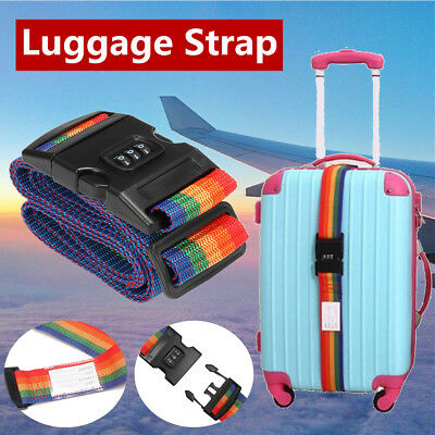 Travel Luggage Suitcase Bag Packing Secure Safe Strap Belt Password Coded Lock