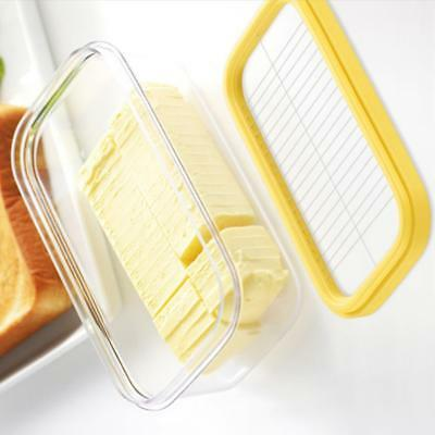 Glass Butter Box With A Cutting Net,Cheese Cutting,Storage,kichen,fridge Serving