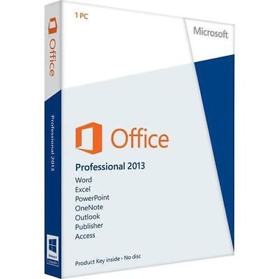 MS Office 2013 Professional Plus 32&64 Bits OEM Produktkey per email