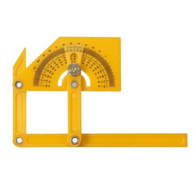 UK Goniometer Angle Finder Miter Gauge Measuring Ruler Tool Plastic Protractor