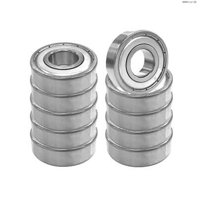 Toolots Deep Groove Ball Bearing 6005-ZZ Single Row Double Shielded C0 10 Pcs