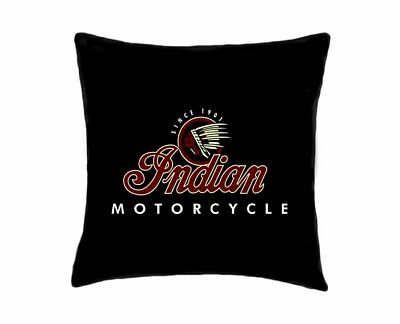 """INDIAN MOTORCYCLE PILLOWCASE 19""""x19"""" FLAG/BANNER-US Seller-Free Shipping"""