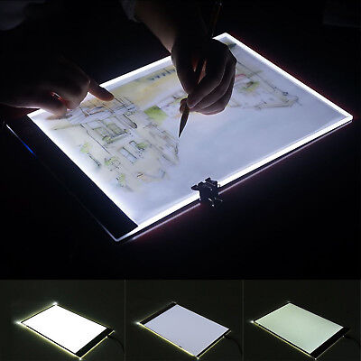 A4 LED Ultra Art Craft Drawing Tracing Tattoo Light Box Pad Board Lightbox Set