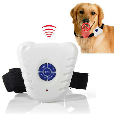 Pet Dog Ultrasonic Anti Bark No Barking Training Collar Shock Control