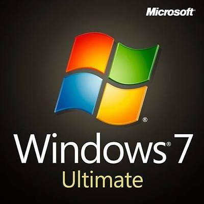 Microsoft Windows 7 Ultimate 32&64 Bits OEM  Win 7 Ultimate Produktkey per email