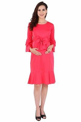 Rayon Pregnant Women Maxi Dresses Maternity Gown Full Sleeve