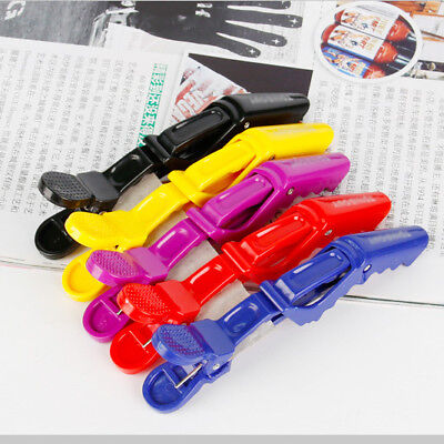 6PCS Hairdressing Salon Matte Sectioning Clamp Crocodile Hair Clips Hairpin Grip