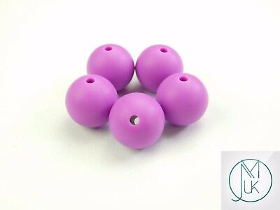 20x Round Silicone Beads 19mm for Teething Jewellery Making 23 Colors to Choose