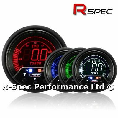 Prosport 60mm Premium Evo Peak / Adustable Warning LCD Turbo Boost Gauge - BAR