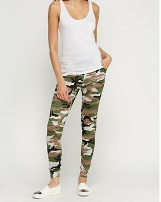 Women's Girl's Camouflage Green Joggers / Trousers Size M/L 10-12 UK Brand New