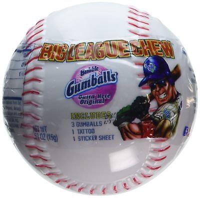 Big League Chew® Bubble Gumballs Baseball with Tatto & Sticker Sheet - 12 Ct....