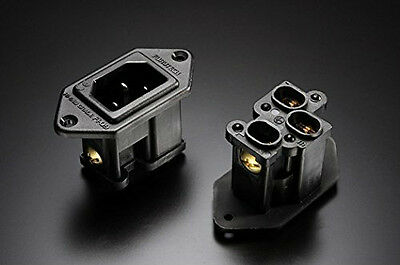 FI-09 FI09 Furutech High End Performance IEC Inlets plated plug Gold Rhodium