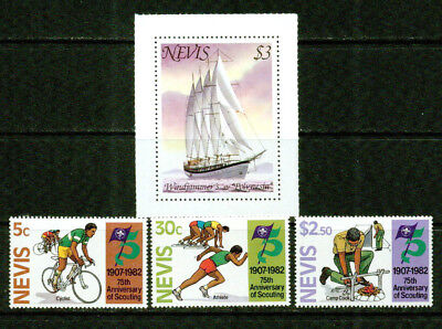 Nevis   -1980-1982- Sailboat, Scouting  -Vf**