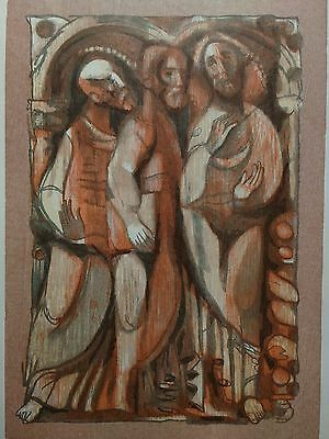 Bernard Brussel-Smith (American) Original Signed Limited Edition Wood Engraving.