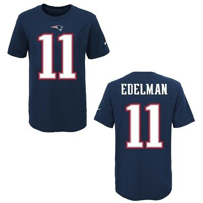 New England Patriots Julian Edelman Blue Youth Nike Player Pride Tee2 T- Shirt f26f91e96