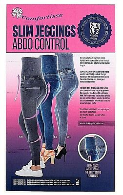 3 Pack Zlimmy Slim High Waist Jeans Skinny Jeggings Shapewear Slimming Control
