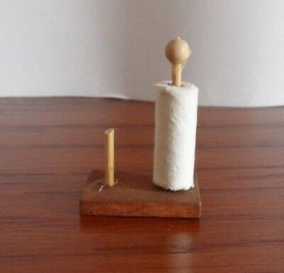 An Old Fashioned Kitchen Roll Holder for the DOLLS HOUSE