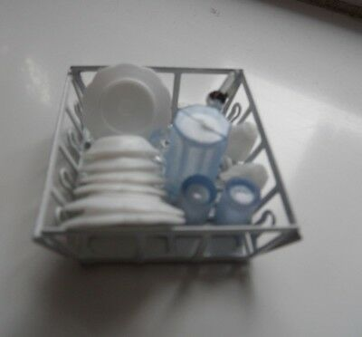 Draining Tray complete with Dishes for the DOLLS HOUSE