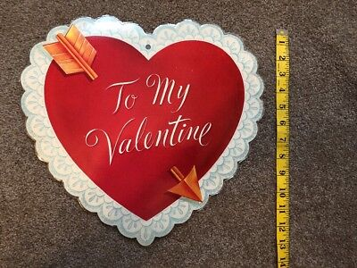 Vintage Dennison Valentine Heart Die-Cut Decoration