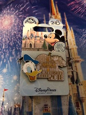 Disney Pin 126721 WDW 2018 Dated Collection Donald Duck Walt Disney World Icons
