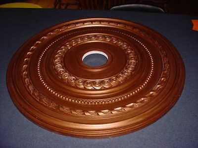 """NEW Old Stock  ORNAMENTAL 25""""  DECORATIVE Compressed Foam CEILING MEDALLION GOLD"""