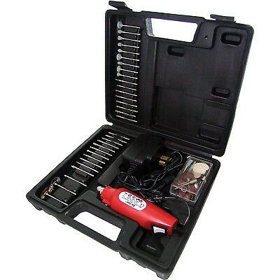 Am-Tech 60Pc Mini Drill & Grinder Set Carry Case Grinding Engraver Engraving Kit