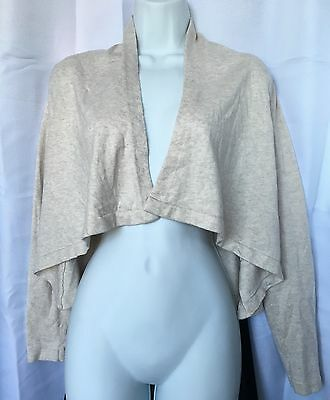 Old Navy Maternity Beige Long Sleeve Shrug Size Small Excellent Condition