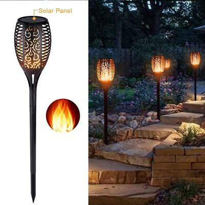 96 LED Solar Torch Light Flicker Flame Burning Fire Effect Pathway Garden Decor
