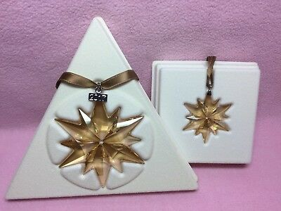 SWAROVSKI SCS Christmas Ornament Annual Edition 2017 LARGE + LITTLE 2 pieces