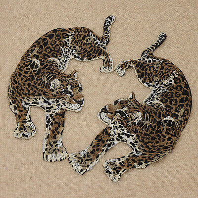 DIY Aufnäher Leopard Panter Patch Chic Patches 2stk Kleidung Jeans Flicken Deko