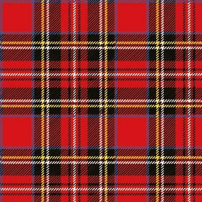 Ambiente Pack of 20 Paper Napkins / Serviettes - Scottish Red - 3 Ply