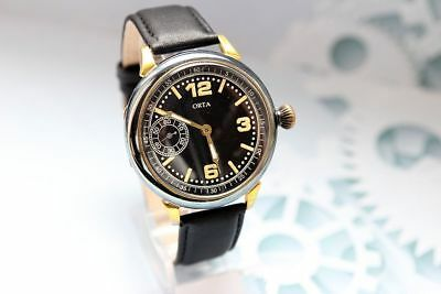 ORTA Military WWII GermaN ARMY Swiss Vntage men's Mechanical Wristwatch SERVISED