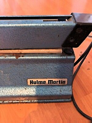 Hulme Martin Guillotine Type  Heat Sealer Seals Plastic Bags Great Condition